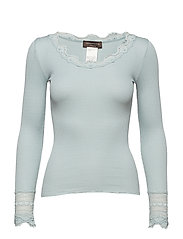Silk t-shirt regular ls w/wide lace