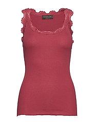 Silk top - SCARLET RED