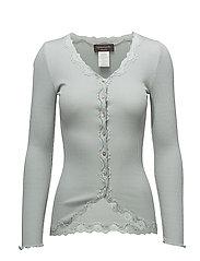 Silk cardigan regular ls w/rev vint