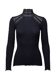 Rosemunde - Silk T-Shirt Turtleneck Regular Ls