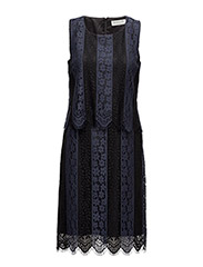 Dress ss - BLACK DARK BLUE STRIPE