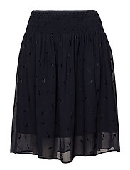 Skirt - BLUEBERRY FEATHER PRINT