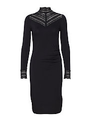 Dress ls - BLACK
