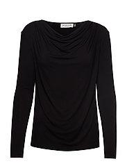T-shirt ls - BLACK