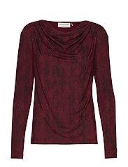 T-shirt ls - SOFT WINE PYTHON PRINT