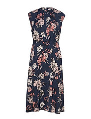 Dress - NAVY SPRING BLOSSOM PRINT