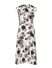 Dress - IVORY SPRING BLOSSOM PRINT