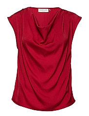 Blouse ss - DEEP RED
