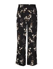 Trousers - BLACK CHERRY BLOOM PRINT