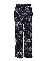 Trousers - BLUE BLOSSOM PRINT