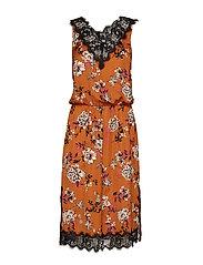 Dress - MOCHA BLOSSOM PRINT