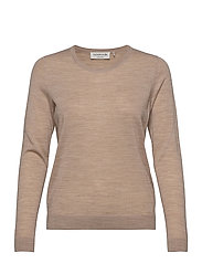Merino pullover ls - BEIGE MELANGE