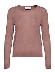 Merino pullover ls - DUSTY PLUM