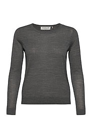 Merino pullover ls - MEDIUM GREY MELANGE