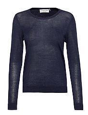 Merino pullover ls - NAVY