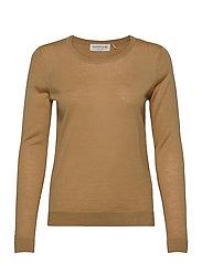 Merino pullover ls - PURE CAMEL