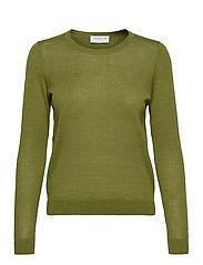 Merino pullover ls - SEAWEED