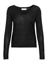 Merino pullover ls - BLACK