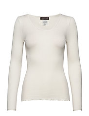 Silk t-shirt w/ elastic band - IVORY
