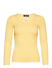Silk t-shirt w/ elastic band - VANILLA YELLOW