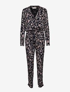 Jumpsuit ss - jumpsuits - wild blue blossom print