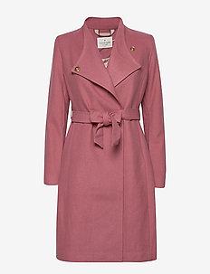 Coat ls - wełniane płaszcze - mesa rose