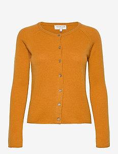 Wool & cashmere cardigan ls - neuletakit - golden mustard