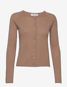 Cardigan ls - kasjmier - nougat brown