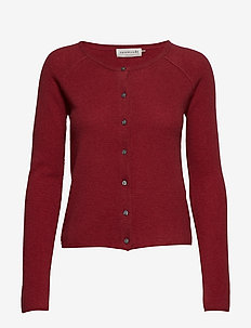 Cardigan ls - SCARLET RED