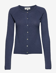 Cardigan ls - cashmere - true navy