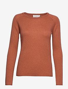 Pullover ls - kashmir - copper brown