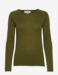 Pullover ls - kaszmir - leaf green