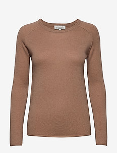 Pullover ls - cashmere - nougat brown