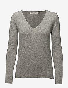 Pullover ls - kashmir - light grey melange
