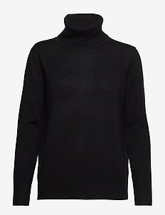 Pullover ls - turtlenecks - black