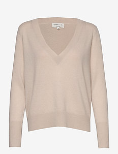 Wool & cashmere pullover ls - cashmere - gray morn
