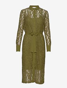 Dress ls - skjortekjoler - leaf green