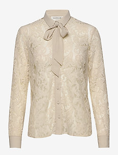 Shirt ls - blouses med lange mouwen - whisper beige