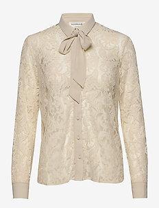 Shirt ls - långärmade blusar - whisper beige