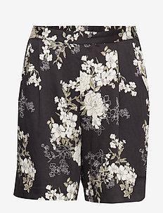 Shorts - BLACK FAIRY FLOWERS PRINT