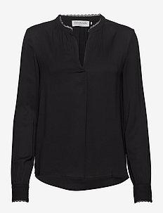 Blouse ls - long sleeved blouses - black