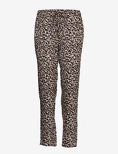Trousers - spodnie proste - brown shadow leopard print