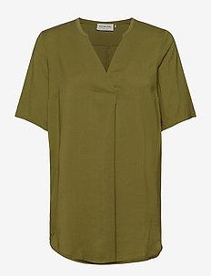 Blouse ss - short-sleeved blouses - leaf green