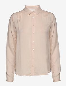 Shirt ls - overhemden met lange mouwen - whisper beige