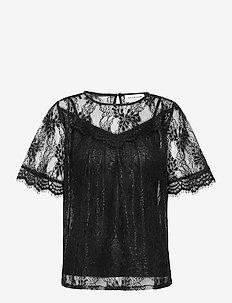 Blouse 3/4 s - blouses med korte mouwen - black