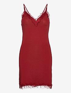 Strap dress - bodies & slips - cranberry