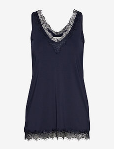 Top - sleeveless blouses - dark blue