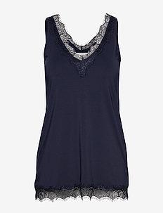 Top - blouses zonder mouwen - dark blue