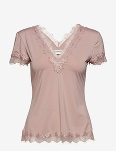 T-shirt ss - blouses korte mouwen - vintage powder