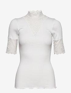 Organic t-shirt turtleneck regular - t-shirts - new white